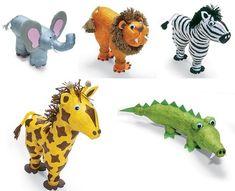 Brinquedos Artesanais - Girafa de Garrafa Pet