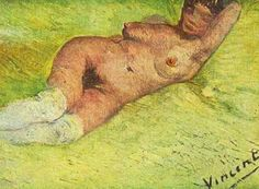 Vincent van Gogh: Nude Woman Reclining.  Oil on canvas. Paris: early 1887.  Otterlo: Kroller-Muller Museum.