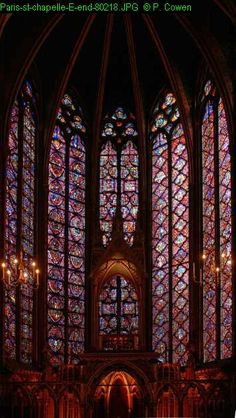 St Chapelle stained glass; by Notre Dame