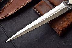 CFK Custom Handmade HAMMERED 1095 PARAZONIUM Stiletto Dagger Camp Combat Knife