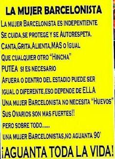 Mujer Barcelonista