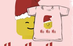 """""""Santa Ho Ho Ho Minifig by Customize My Minifig"""" Kids Clothes by ChilleeW   Redbubble"""