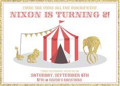 Circus Themed Invitations