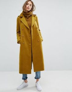 Missguided Premium Military Faux Wool Maxi Coat