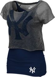 Touch by Alyssa Milano New York Yankees Double Hit Top