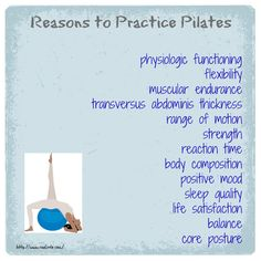 Benefits of #Pilates for your #healthy body