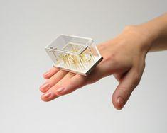 asagi maeda rings  Sterling Silver, K18 yellow gold, acrylic