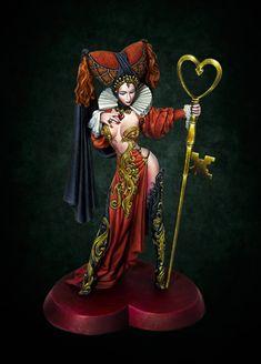 "RUBINA, Queen of Hearts (Kimera Boxart) by Francesco ""Franciuus"" Farabi · Putty&Paint Minis, Zombicide Black Plague, Mad Hatter Costumes, Tutu Costumes, Mad Tea Parties, Geek Gear, Fantasy Miniatures, Cosplay, Art Model"