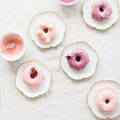 In the Kitchen: 6 Pretty & Pastel Things to Make for Spring -- a slideshow presentation featuring Summery Donuts with Strawberry and more