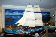 Look! Life-Sized Gingerbread Houses | Everything here is edible, and took a pastry team 1600 hours to complete. This pirate ship is in Laguna Niguel.