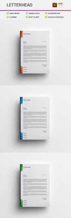 Letterhead Letterhead, Certificate design and Letterhead template - corporate letterhead