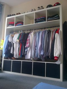 Closet- fast Ikea hack. I need this so bad. I don't have a closet lol.