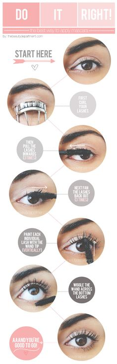 How to apply mascara to get the best from your mascara.