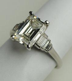 Carat Emerald Cut Art Deco Engagement por greenhilljewelers