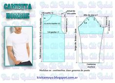 KiVita MoYo : CAMISETA MASCULINA Baby Dress Patterns, Baby Clothes Patterns, Clothing Patterns, Mens Sewing Patterns, Sewing Men, Mens Shirt Pattern, Jacket Pattern, Paper Clothes, Doll Clothes