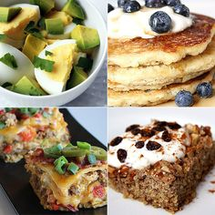 a collection of weight loss breakfast recipes -- yummy!