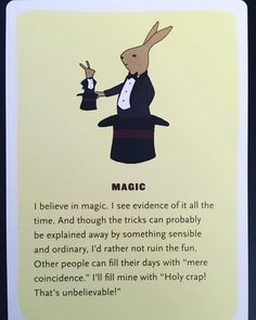 Throwback to the card I pulled last week in . I believe in magic. Well yes in fact I do Believe In Magic, Coincidences, Krystal, Therapy, Wellness, Facts, Bird, Fun, Instagram