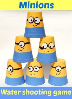 Minions water shooting game - Loads of fun! Minion Party Games, Despicable Me Party, Minion Theme, Minion Movie, Third Birthday, 4th Birthday Parties, Boy Birthday, Birthday Ideas, Homemade Minion Costumes