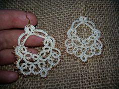 Lace earrings  by SvitLanu on Etsy