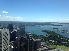 On top of the Sydney Tower eye. What a view