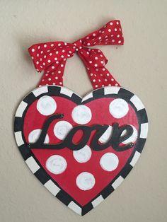 Valentine's Day Door Hanger, Holiday Decor,