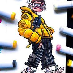Doodle Art Drawing, Doodle Sketch, Art Drawings Sketches, Cool Doodles, Doodle Art Designs, Simpsons Art, Graffiti Designs, Graffiti Characters, Doodle Inspiration