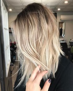 """855 Likes, 16 Comments - •katie o• (@hairbykatieo) on Instagram: """"Textured lived in blonde """""""