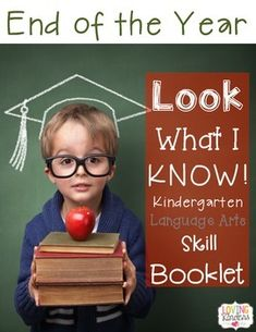 END OF THE YEAR Kindergarten RESOURCEUse this Skill Booklet to assess language arts standards and to SHOW off your students HARD WORK from ALL year!You can ALSO use it to START the year for 1st GRADE as a SKILL REVIEW!~~~~~~~~~~~~~~~~~~~~~~~~~~~~~~~~~~~~~~~~~~~~~~~~~~~There are 2 different resources in this packet.1~16 PAGE MULTI-SKILLMini Booklet2~13 PAGE MULTI-SKILL Full BookBoth products contain the same skills but offer different variations.Language Arts Skills Include:Alphabet identificatio...