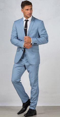 Tailored suit jacket by H. Brothers. Pastel colours will be a must have this spring season.  <ul> <li> Slim notch lapel <li> Breast pocket <li> Flap pockets to the front <li> Two button front <li> Natural shoulders <li> Kissing buttons to the cuff <li> Lined body and sleeves <li> Dual vents to the back  <li> Model wears size 96 | Model's height 185cm/6'1 <li> 70% polyester, 28% viscose, 2% elastane </ul>...