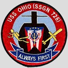 USS Ohio (SSGN 726) unit patch after conversion   https://www.pinterest.com/moran2231/history/
