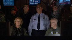 Beau Bridges, Gary Jones, Michael Shanks, and Amanda Tapping in Stargate For Crying Out Loud, Gary Jones, Amanda Tapping, Michael Shanks, Stargate