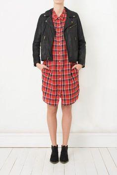 Ganni Plaid Flannel Shirt Dress #garmentory