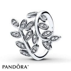 Pandora Ring Sparkling Leaves Sterling Silver