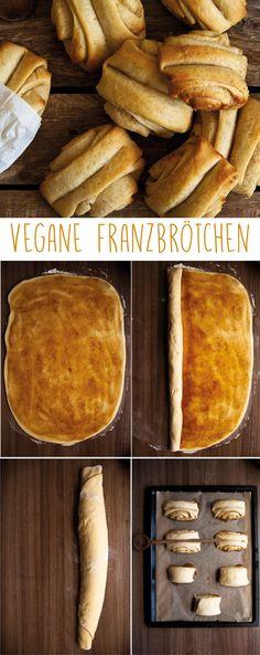 Franzbrötchen - How to make Franzbrötchen. Vegan Franzbrötchen, a step by step recipe. Do it yourself is somehow -Vegan Franzbrötchen - How to make Franzbrötchen. Vegan Franzbrötchen, a step by step recipe. Do it yourself is somehow - Bolo Vegan, Cake Vegan, Baking Recipes, Cake Recipes, Dessert Recipes, Breakfast Recipes, Vegan Breakfast, Breakfast Ideas, Food Cakes