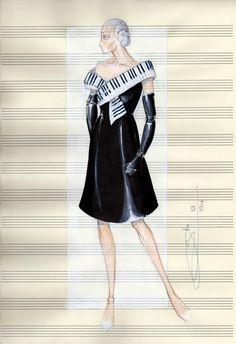Omaggio al Pianoforte  Figurino di Stefano Carboni  Giugno 2014
