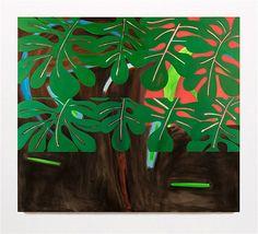 "Diaz Contemporary Elizabeth McIntosh, The Leaves - 2014 Oil on canvas  85"" x 75"""