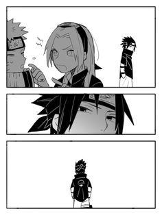 Naruto Sasuke Sakura, Naruto Cute, Naruto Funny, Naruto Shippuden Anime, Sakura Haruno, Anime Naruto, Boruto, Narusaku, Anime Butterfly