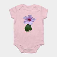 Purple Flower With Green Leaf