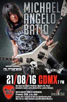Michael Angelo Batio, 2016-08-21, Ciudad de México