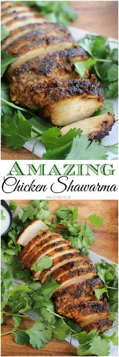 Amazing Chicken Shawarma - Chicken marinated with some common spices, olive oil and lemon juice will amaze your tastebuds! Take your mouth on a Middle Eastern vacation! Lebanese Recipes, Greek Recipes, Indian Food Recipes, Turkey Recipes, Chicken Recipes, Dinner Recipes, Chicken Spices, Recipe Chicken, Healthy Chicken