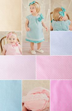Vintage inspired shift dress with the cutest of details to ring in Spring. Available in 6 sweet colors for every little one's personality.