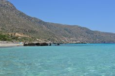 crystal clear waters in Kedrodasos, southwest Chania, Crete, Greece