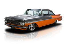 1959 Chevrolet Bel Air with House of Kolor Sterling Gray Metallic over Sunset Orange