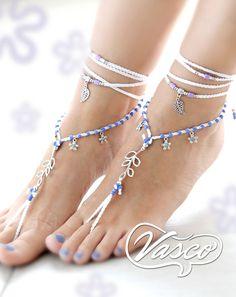 White Lilac Barefoot Sandals. Beach Fashion. Beach Wedding Bride