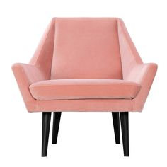 Coral shades have a vintage appeal that work perfectly with retro-inspired shapes, such as the Angeli armchair. With its angular design and edgy black legs, the Angeli is the perfect way to dress up a drab corner or add a touch of accent colour to your living space.