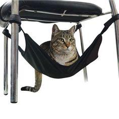 Berço-rede para instalar sob cadeiras e mesinhas.