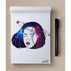 Sanatlı Bi Blog Uzayın Büyüleyici Renkleri ile Yapılmış Birbirinden Güzel 20 Çalışma 14