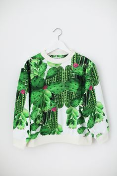 Cactus Feeling!  Cactus Jumper by What's Inside You SS14 SHOP NOW! http://whatsinsideyou.bigcartel.com/product/blabla #whatsinsideyou #jumper #cactus