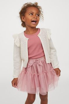 Glitrende tyllskjørt - Gammelrosa - BARN | H&M NO Old Rose, Fashion Company, Flare Skirt, Dusty Rose, World Of Fashion, What To Wear, Kids Outfits, Personal Style, Barn