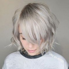 70 Overwhelming Ideas for Short Choppy Haircuts Ash Blonde Choppy Bob With Bangs Choppy Bob With Bangs, Short Choppy Haircuts, Thin Hair Haircuts, Layered Haircuts, Choppy Hairstyles, Short Choppy Bobs, Thin Bangs, Choppy Layers, Lob Hairstyle